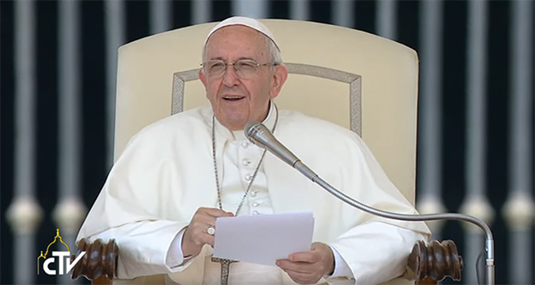 Papa Francesco all'Udienza Generale